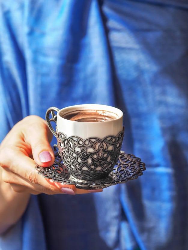 روش دم آوری قهوه ترک