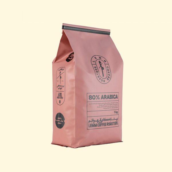 قهوه اسپرسو لم 80% عربیکا یک کیلوگرمی